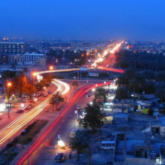 Baghdad at night