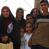Iraqi family in a village