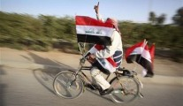 covered with Iraqi flags