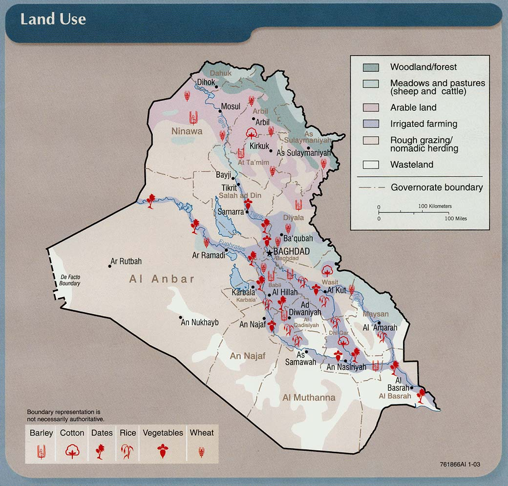 Iraq pictures map land use