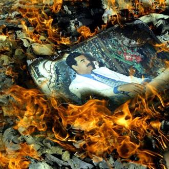 Portrait of Saddam Hussein