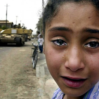 Crying Iraqi girl