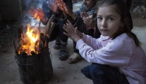 yazidi chileds heated by fire